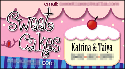 Sweet Cakes Buz Card by medge