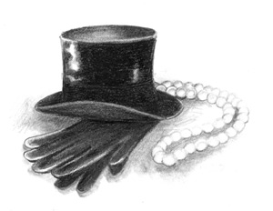 top hat and gloves by medge
