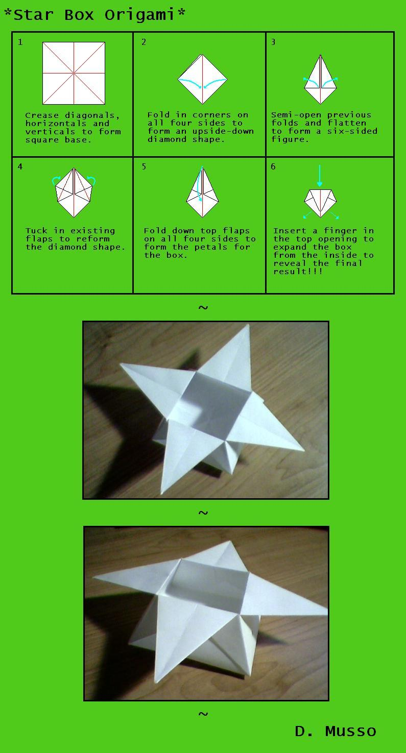 Star Box Origami By Dmusso1989