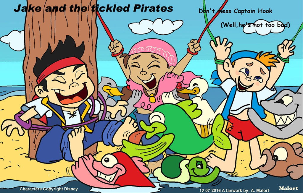 Jake And The Tickled Pirates By Malortcomics785 On Deviantart-4218
