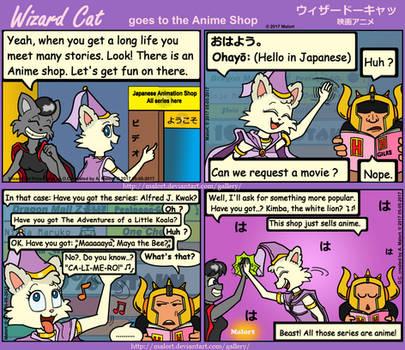 WizardCat goes AnimeShop