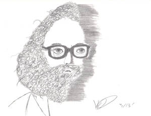 Trying to draw Allen Ginsberg