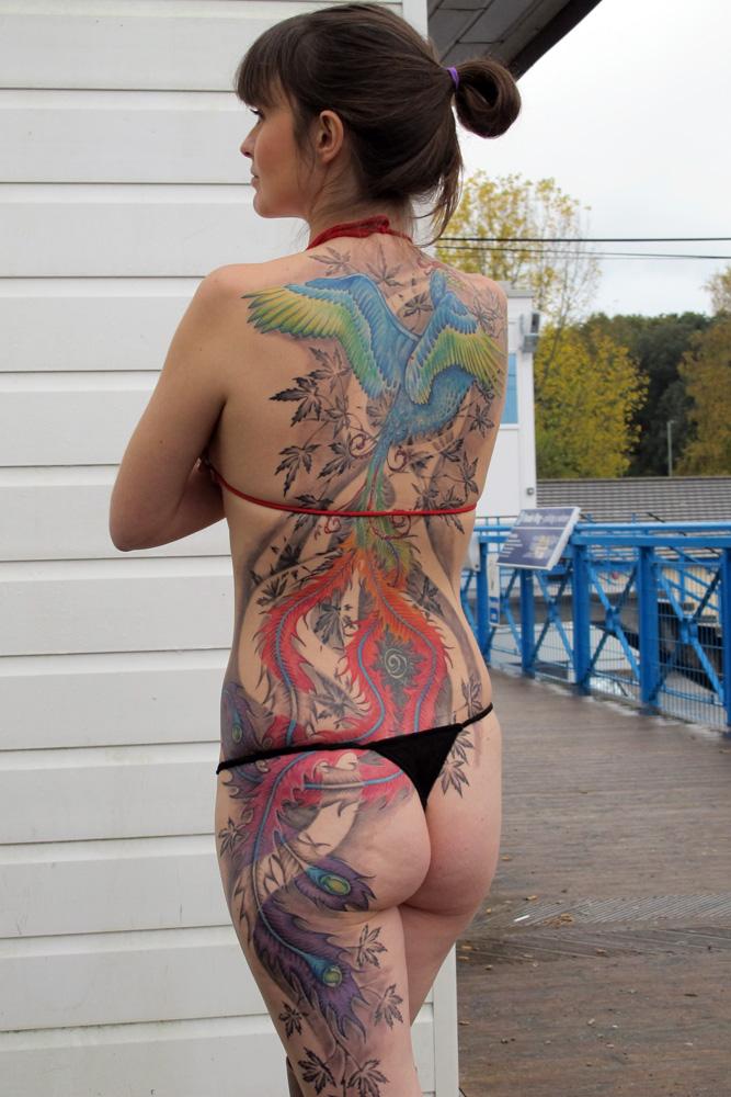 bbb53928083f9 Tattoo Templek: Superb tattoo for female by Calvin Kay