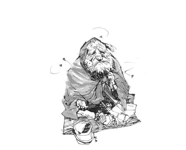 Old beggar Doro by phongduong