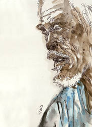 Old man sketch by phongduong