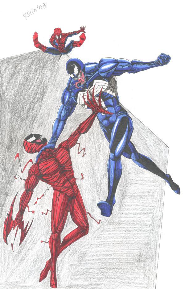 Spiderman vs carnage drawings - photo#27