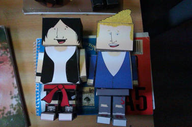 Bill and Ted Cubeecraft by harriFreckles