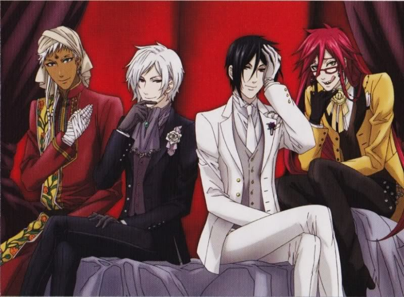 Some Black Butler Characters by ilovegrelltheripper