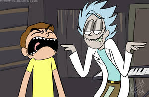 rick and morty screenshot by AlexandraToons