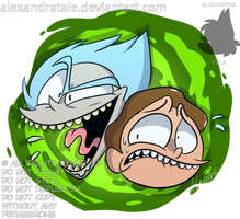 Rick and Morty CONTEST ENTRY by AlexandraToons