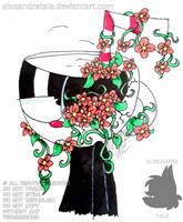 flower cup by AlexandraToons