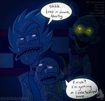 rick and morty in fnaf by AlexandraToons
