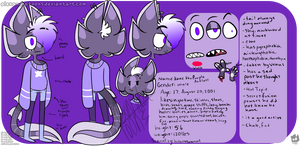 Kane the Purple Axolotl ref sheet by AlexandraToons