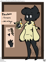 pikaboo the mimikyu (pokemon oc ref) by AlexandraToons