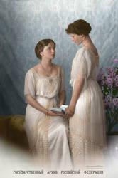 Olga and Tatiana (colorized) by MemoriesOfTime97