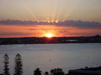 Sunset in Perth City by Kyaa-Neko-chan