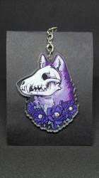 Skull wolf - Acrylic charm