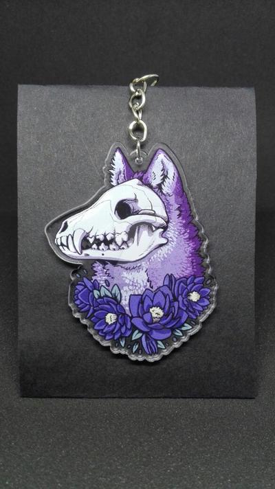 Skull wolf - Acrylic charm by Kolaholismi