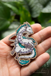 Haku wooden pin/magnet - Spirited Away