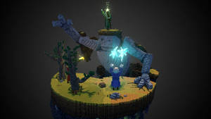 Battling the Guardian - Sketchfab Contest by Phil-XG