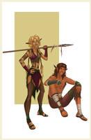 Wild Elves by BluFireDragon667