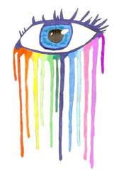 Rainbow Tears by theartistinmesayshi