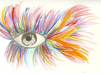 Colorful Eye by theartistinmesayshi