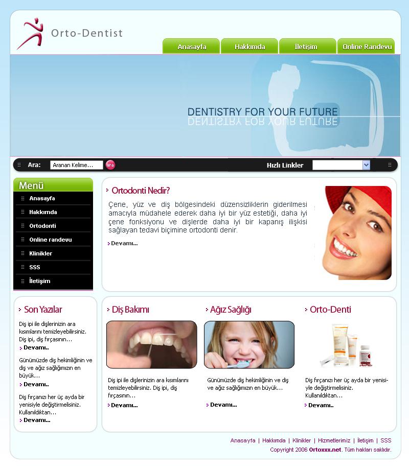 dentist web template psd by czgtsrm on deviantart. Black Bedroom Furniture Sets. Home Design Ideas