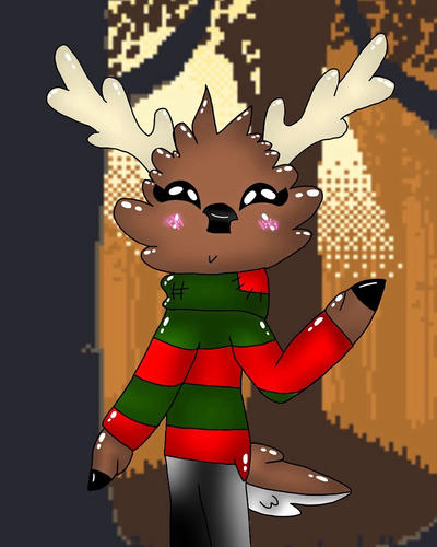 Katie the reindeer by ArtyCatFlys
