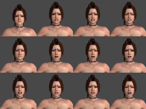 Mai Shiranui Painful, Crying Facial Poses by bradpigg