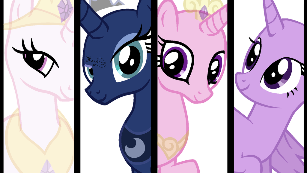 The princesses of equestria base by vampielle on deviantart