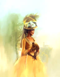 Milady in Yellow II by corpor8chic