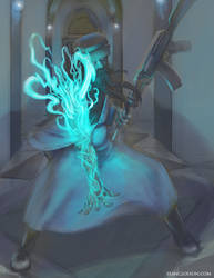 Blue Wizard Character Illustration by SeanClosson