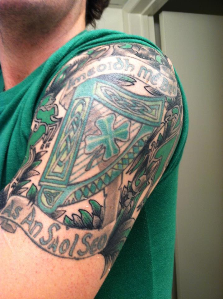 Half Sleeve Arm Tattoo by YourFavoriteNiko
