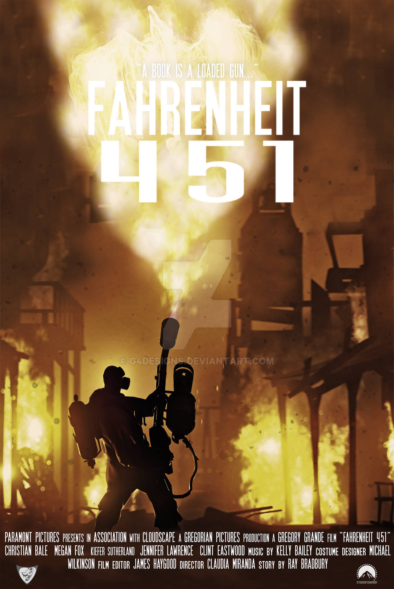 Movie posters projects fahrenheit 451