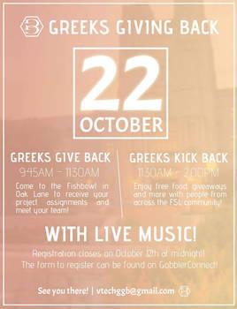 Greeks Giving Back - Poster