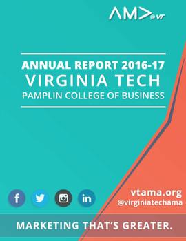 Virginia Tech AMA 2016 Annual Report - Cover