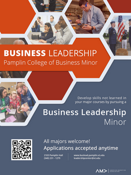 Virginia Tech Official Business Leadership Flyer