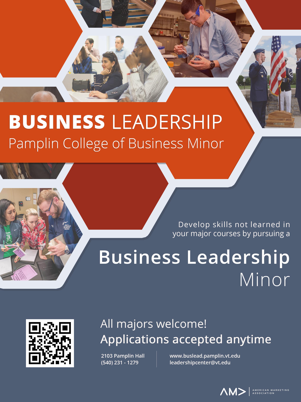 Virginia Tech Official Business Leadership Flyer