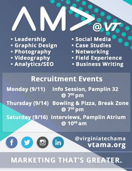 Virginia Tech AMA 2017 Recruitment Flyer