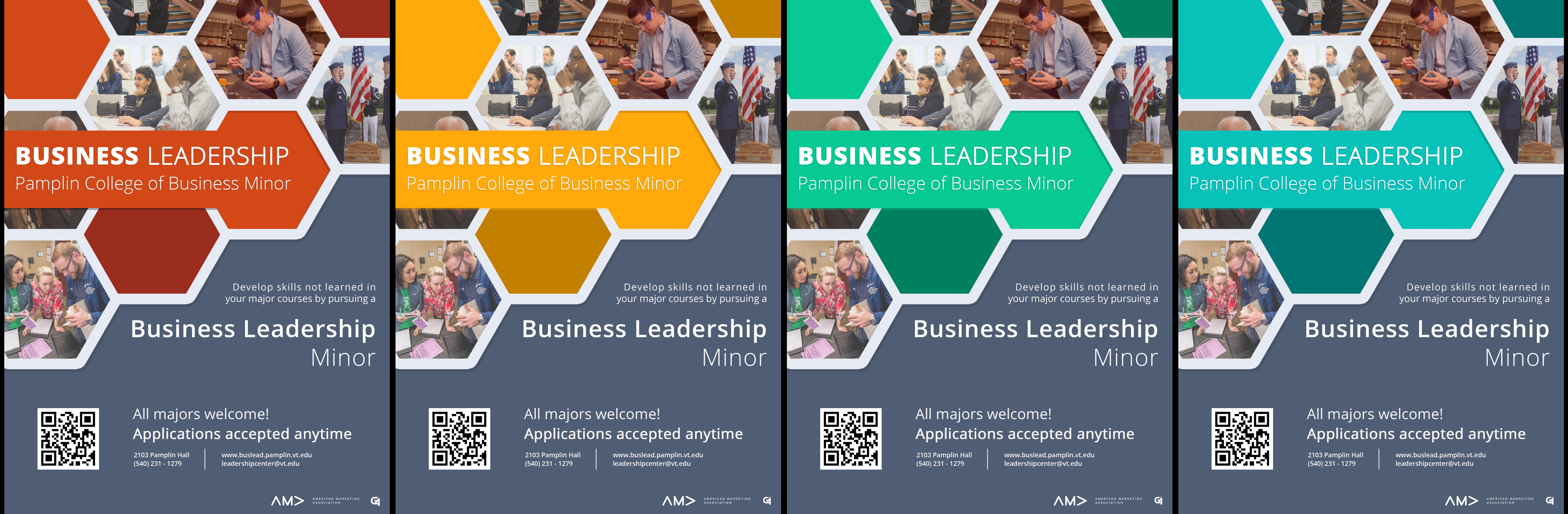 Virginia Tech - Business Leadership Minor Flyers