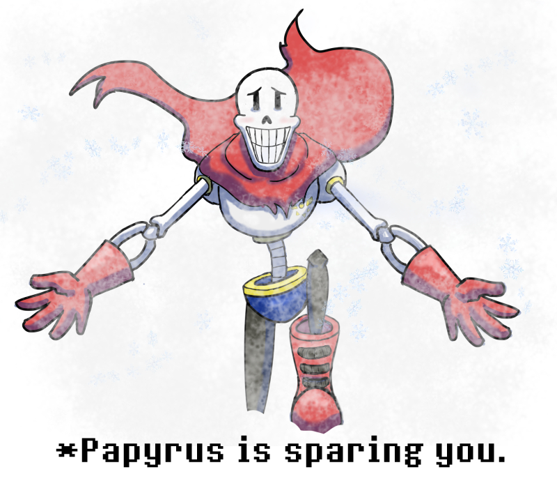 Papyrus is sparing you