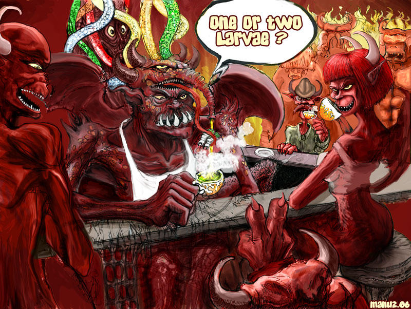 Tea time in Hell by Manu-2005