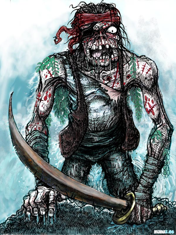 Zombie Pirate by Manu-2005