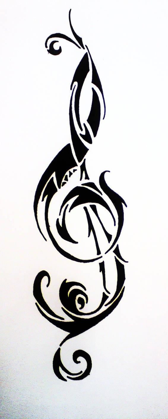 6fd29ab86cb1b TrebleClef Tribal TattooDesgin by HamysArt on DeviantArt