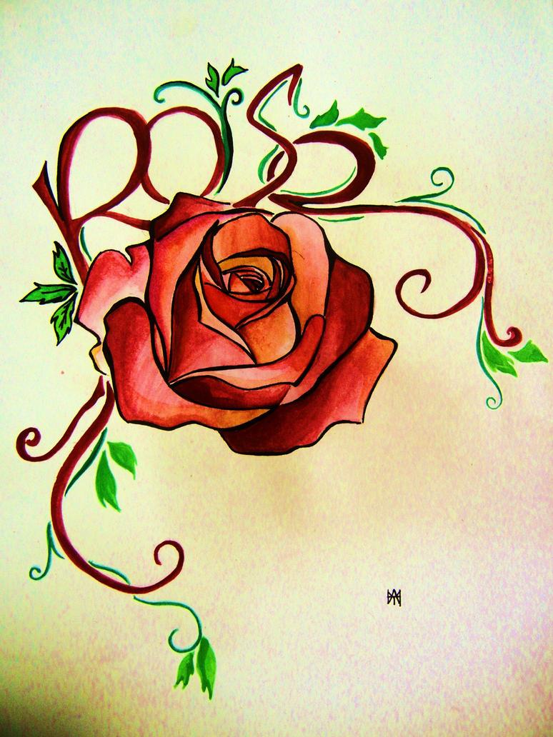 Rose tattoo design by hamysart on deviantart for Rose flower tattoo designs