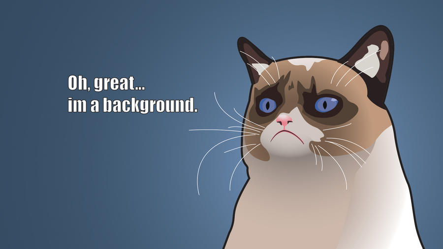 Grumpy Cat Background by Tremem