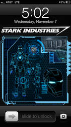 Iron Man Remote Diagnostics iPhone 5 Lockscreen by trebory6