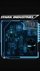 Iron Man Diagnostics iPhone 5 Lockscreen Wallpaper by trebory6