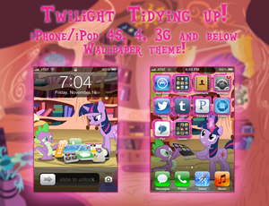 Twilight Tidying up! iPhone 4S/3G Wallpaper Theme!